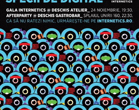 Internetics reunește creativii la Gala de Premiere din 24 noiembrie