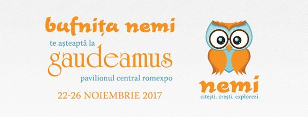 Noutățile editurii Nemi pentru copii la Gaudeamus 2017