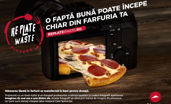 Pizza Hut şi Shutterstock lansează Replate Waste – o inițiativă de prevenire a risipei alimentare din România