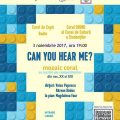 Poster Can you hear me