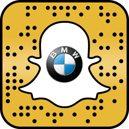 Snapcode for the BMW X2 Augmented Trial Lens by Snapchat and BMW