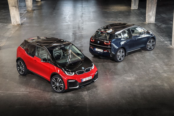 The new BMW i3 and the new BMW i3s