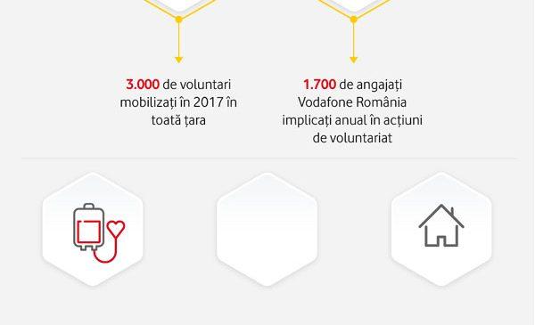 Peste 3.000 de voluntari mobilizați în primele zece luni ale anului în acțiunile organizate și programele sprijinite de Fundația Vodafone România