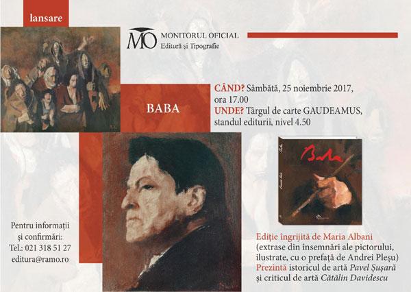 lansarea albumului Corneliu Baba la Gaudeamus