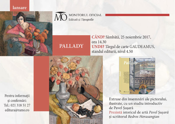 lansarea albumului Theodor Pallady la Gaudeamus