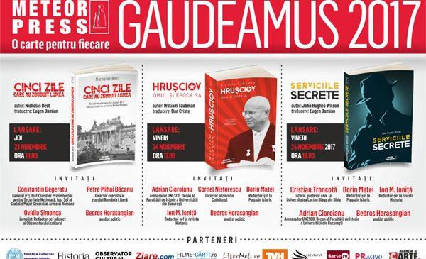 Editura Meteor Press prezintă lansările de toamnă la Gaudeamus 2017