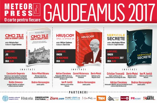 lansari Meteor Press la Gaudeamus