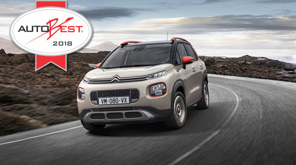 "The new Citroën C3 Aircross Compact SUV wins ""AUTOBEST 2018 – Best Buy car of Europe"""