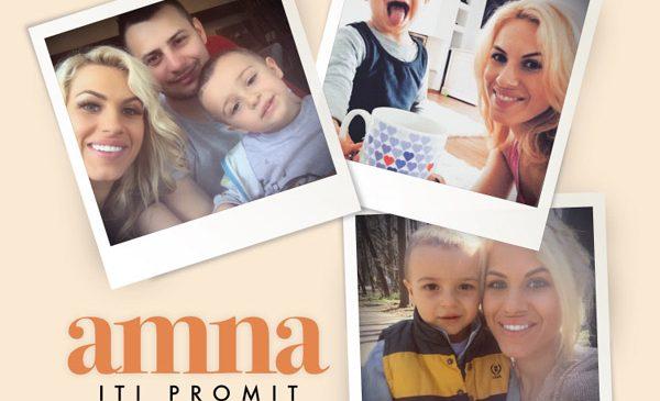 "Amna a lansat ""Iti promit"", primul clip in care apare fiul ei, David"