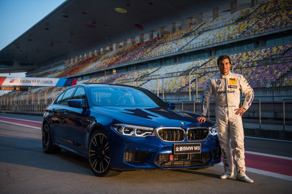 Bruno Spengler breaks lap record at Shanghai International Circuit with the all-new BMW M5