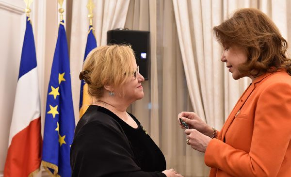 Corina Șuteu, distinsă de Franța cu Ordinul de Ofițer al Artelor și Literelor