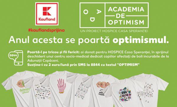 HOSPICE şi Kaufland România îşi unesc forţele: tricouri optimiste pentru refugiul copiilor cu boli rare sau limitatoare de viață