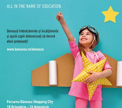 Aproape 4.000 de kg de îmbrăcăminte și încălțăminte colectate în campania It's OK to help them dream, dezvoltată de FCB Bucharest și Băneasa Shopping City