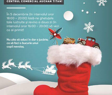 Din 2 Decembrie, Centrele Comerciale Auchan din București dau startul la colind și fapte bune