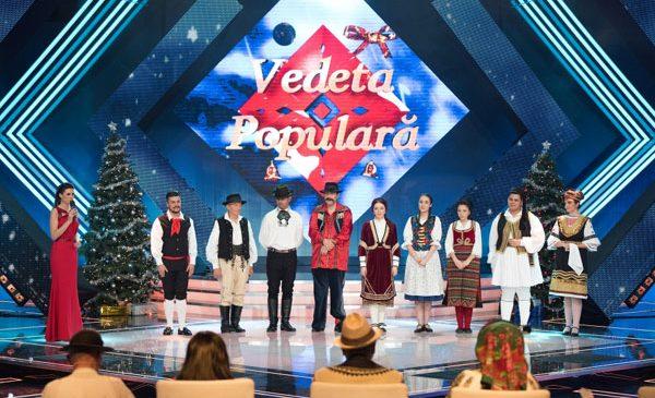 """Semifinala """"Vedeta populară"""", în top 3 programe din Ajun de Crăciun"""