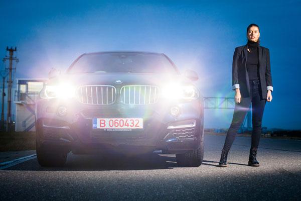 Sorana Cirstea si Marius Copil cu BMW X5 si BMW X6 pe cicuit 1