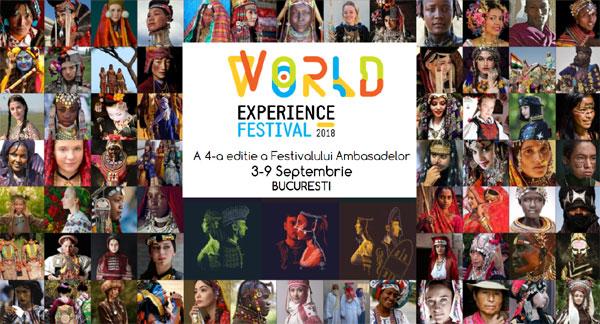 WORLD EXPERIENCE FESTIVAL va avea loc în perioada 3-9 septembrie 2018, este noua denumire sub care va fi cunoscută platforma multiculturală Festivalul Ambasadelor