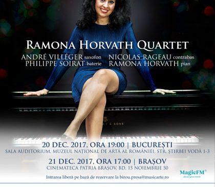 """Jazzy Christmas Concert"" cu Ramona Horvath Quartet"