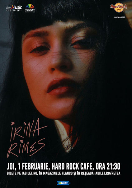 Concert Irina Rimes, 1 februarie, Hard Rock Cafe