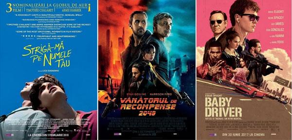 Filmele nominalizate la Premiile Oscar 2018 in cinematografele din Romania