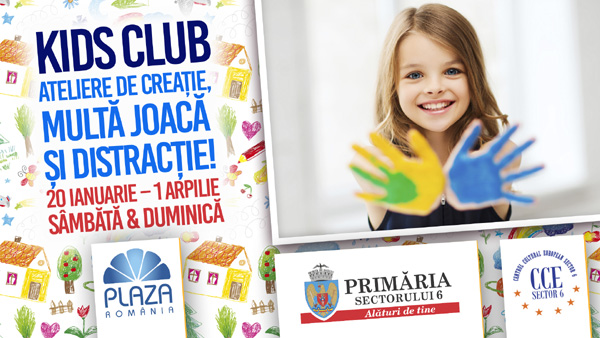 Kids Club: ateliere creative de weekend la Plaza România