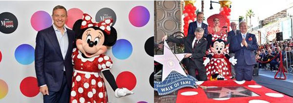 Minnie Mouse a primit propria stea pe Walk Of Fame