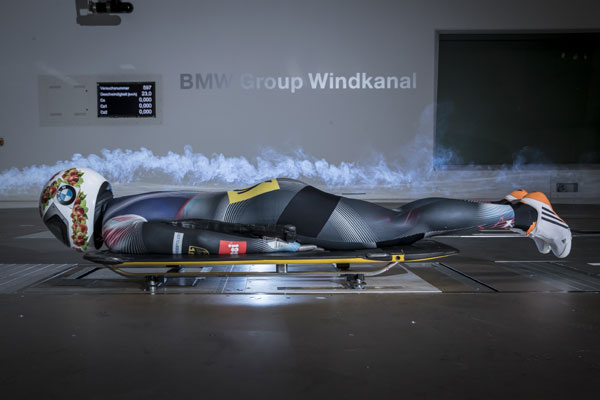Skeleton,Tests im BMW Windkanal