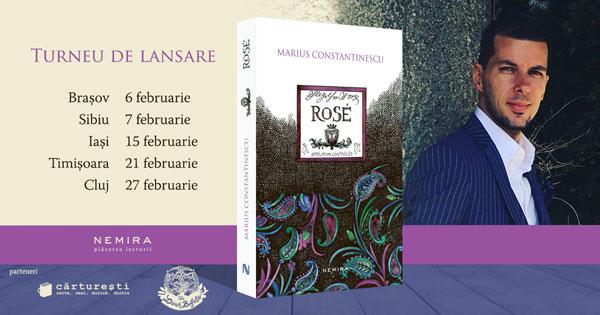 """Jurnalistul Marius Constantinescu în turneu de lansare a cărții """"Rose"""""""