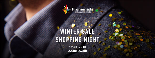Winter Sale Shopping Night