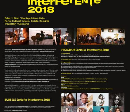 Programul de burse SoNoRo Interferențe continuă în 2018