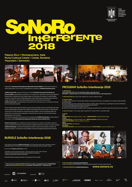 burse SoNoRo Interferente 2018
