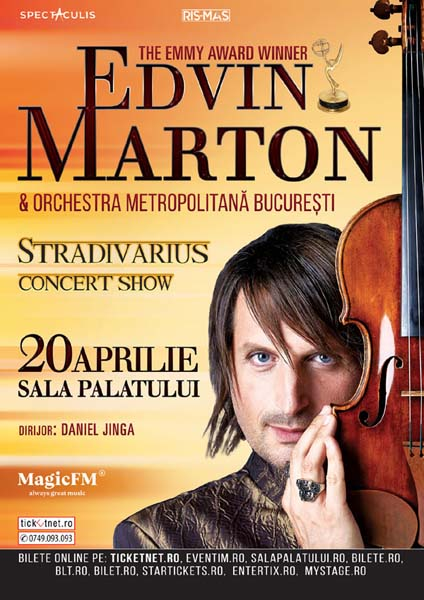 poster Edvin Marton, Stradivarius Concert Show