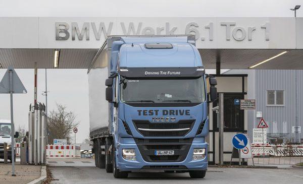 BMW Group testează camioane cu GNL pe ruta Steyr la Regensburg