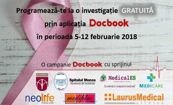 """Docbook susţine lupta împotriva cancerului şi lansează campania """"Prevenția salvează vieți!"""""""