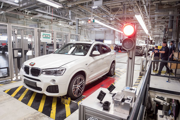 Production of the 200,000th BMW X4