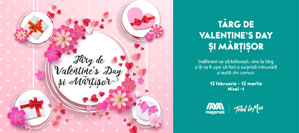Targ de Valentines Day si Martisor la Mega Mall
