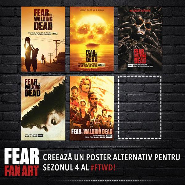 concurs poster alternativ sezonul 4 Fear the Walking Dead
