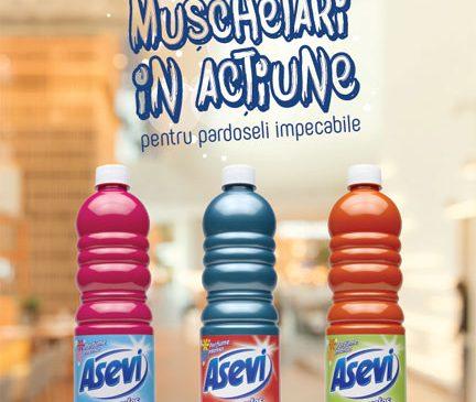 Cei 3 mușchetari in acțiune:  Asevi Portocale, Asevi Cian,  Asevi Mio
