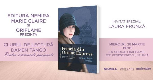 FEMEIA DIN ORIENT EXPRESS – romanul de la Clubul Damen Tango din martie