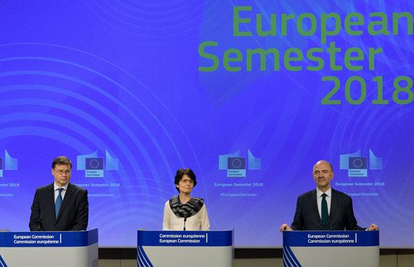 Dombrovskis, Thyssen, Moscovici, Semestru 2018