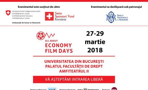 """Festivalul Internațional de Film Economic """"All About Economy"""" la Universitatea din București"""