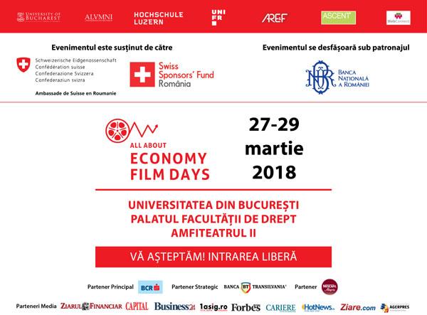 Festivalul Internațional de Film Economic, Bucuresti 2018