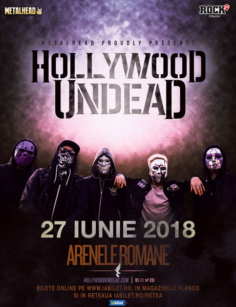 Hollywood Undead 27 iunie Arenele Romane