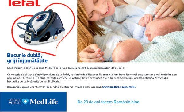 Tefal și MedLife te ajută să te bucuri de cele mai frumoase clipe alături de bebelușii tăi