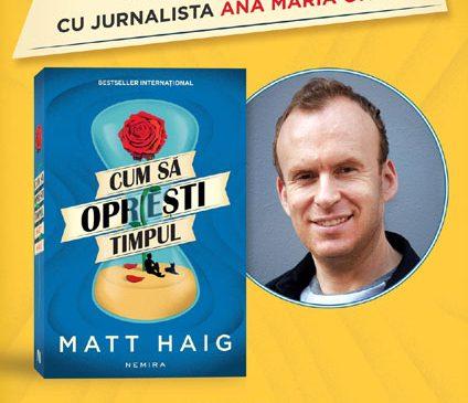 Scriitorul Matt Haig în dialog via skype cu jurnalista Ana-Maria Onisei, pe 20 martie