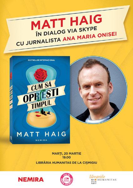 Matt Haig in dialog cu Ana Maria Onisei