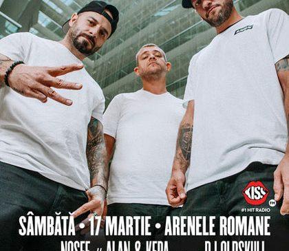 Nosfe, Alan & Kepa și DJ Oldskull vor cânta în deschiderea concertului B.U.G. Mafia de la Arenele Romane