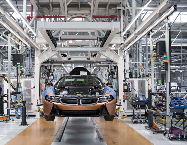 Production of BMW i8 Roadster at BMW Group Plant Leipzig