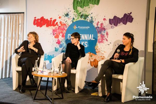 Promenada, Centennial Talks, Mituri despre feminism