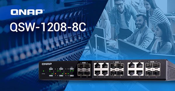 QNAP oferă conectivitate 10GbE prin noile switchuri QSW-1208-8C și QSW-804-4C